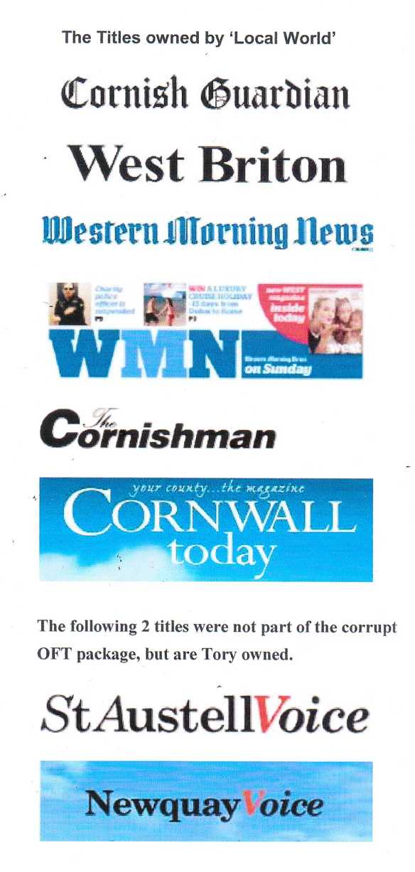 Cornish Newspapers